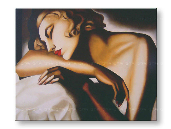 Слики на платно GIRL SLEEPING – Tamara de Lempicka
