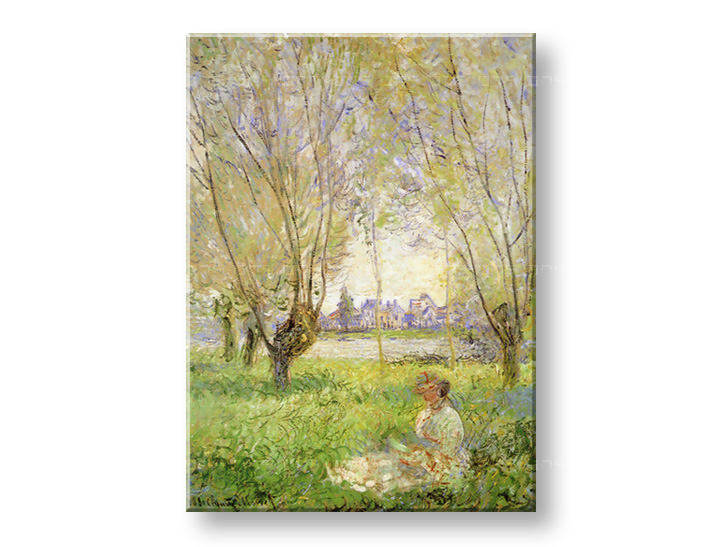 Слики на платно WOMAN UNDER THE WILLOWS – Claude Monet