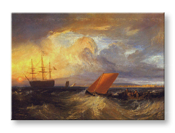 Слики на платно SHEERNESS VISTA DAL NORE – William Turner