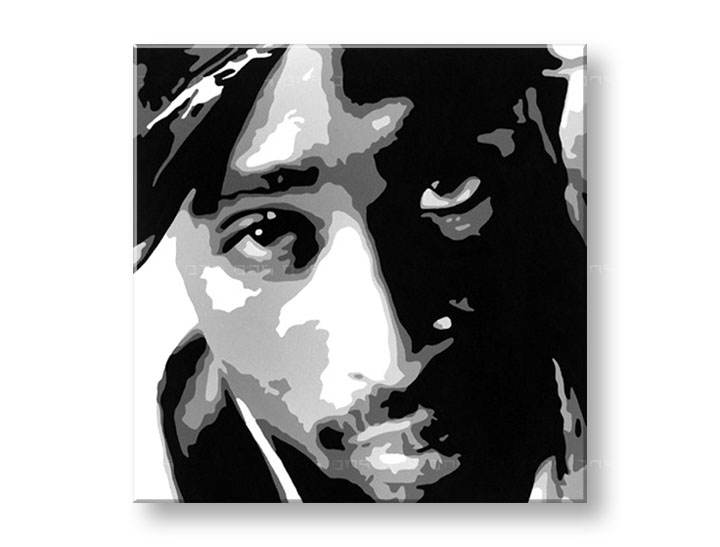 Рачно сликани слики на платно POP Art 2 PAC 1-делна 100x100cm