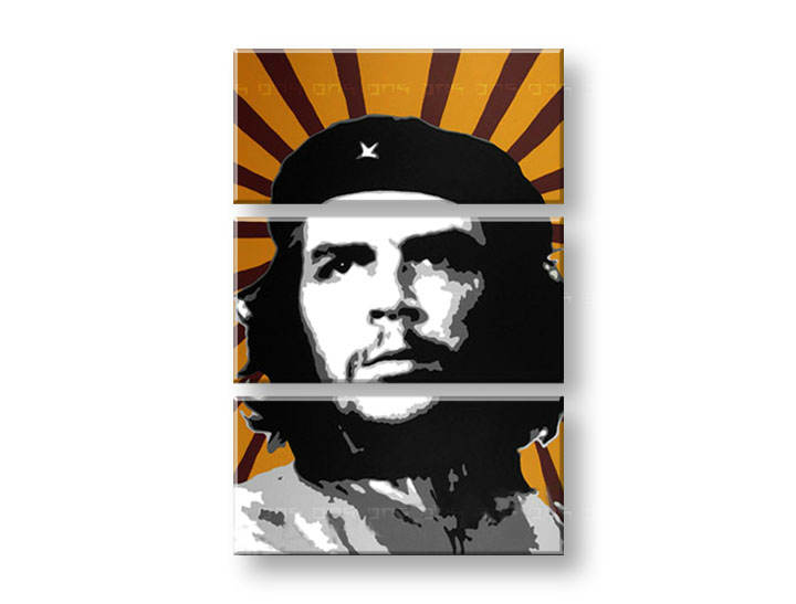Рачно сликани слики на платно POP Art Che Guevara 3-делна 80x120cm