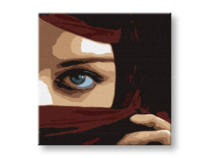 Рачно сликани слики на платно POP Art Eye 1-делна 100x100cm