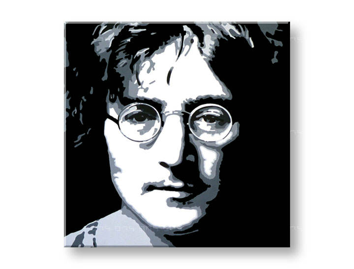 Рачно сликани слики на платно POP Art John Lennon 1-делна 100x100cm