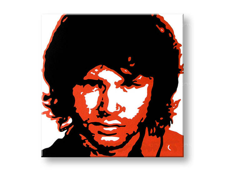 Рачно сликани слики на платно POP Art Jim Morrison 1-делна 100x100cm