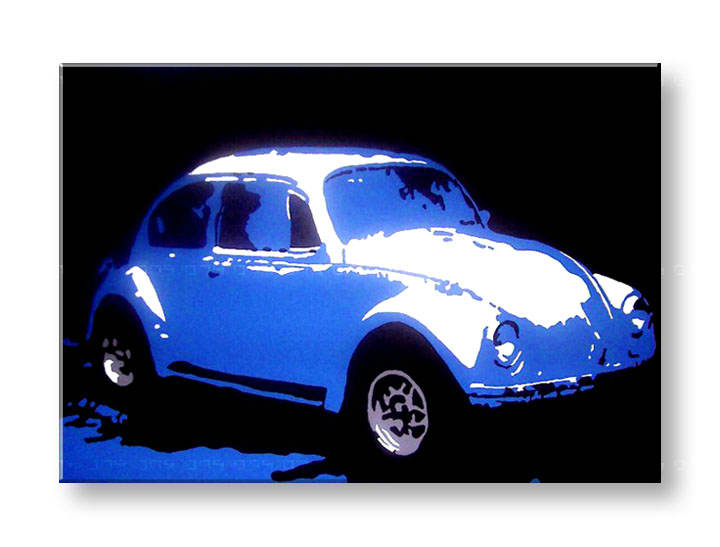 Рачно сликани слики на платно POP Art Volkswagen Beetle 1-делна 70x1